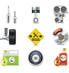 car repair icons vector image