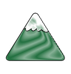 Cartoon mountain snow nature landscape comic vector