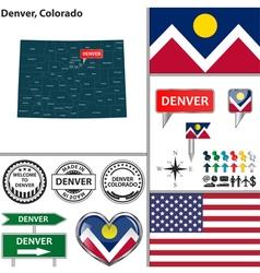 Denver Colorado set vector image vector image