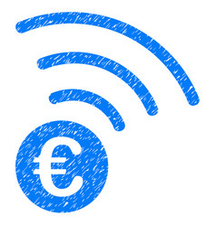 euro announce icon grunge watermark vector image vector image