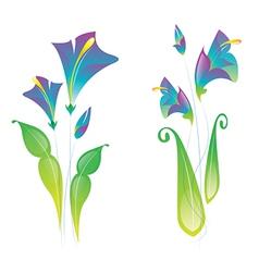 fold purple flowers vector image vector image