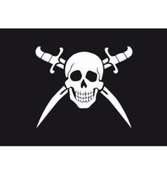 Jolly Roger Black vector image vector image