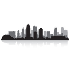 Kansas city USA skyline silhouette vector image