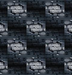 Pattern bricklaying vector image