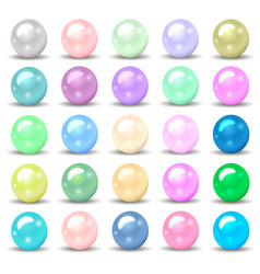 set of pearls of different colors for your design vector image vector image
