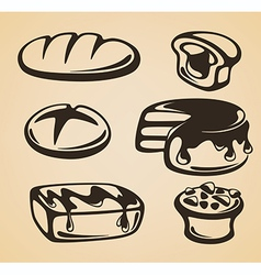 sweet and bread vector image vector image