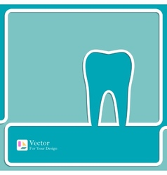 Symbol for dental clinic vector image