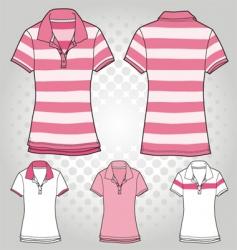 women polo t shirt vector image