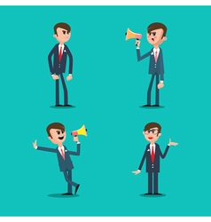 Angry Boss Director Shouting in Megaphone vector image vector image