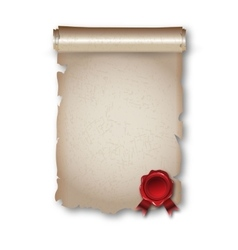 Antique historical paper scroll document vector image