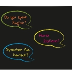 Do you speak foreign language vector