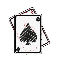 game cards spades diamonds icon image vector image