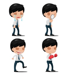 Man Worker Action Emotion Set vector image