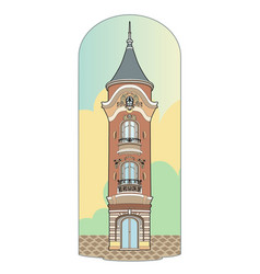 Pink tower vector