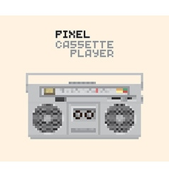 Pixel MC player vector image