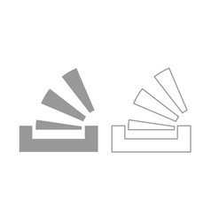 stacking in the tray icon grey set vector image