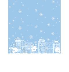 street in winter vector image
