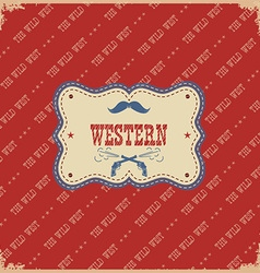 western label background wild west with text vector image