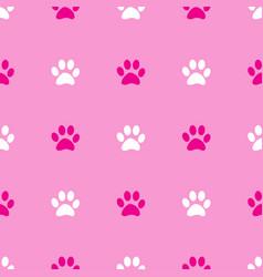 animal paw seamless pink pattern vector image