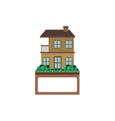 apartment with two floors design vector image vector image