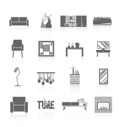 Living Room Icons Set vector image vector image
