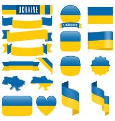 ukraine flags vector image