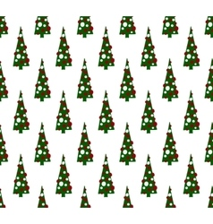Color christmas trees pattern vector image