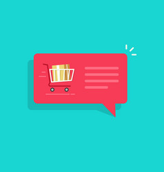 ecommerce order notification message vector image vector image