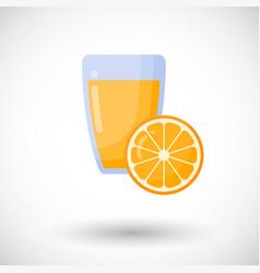 orange juice flat icon set vector image vector image