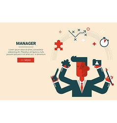 project management concept vector image vector image