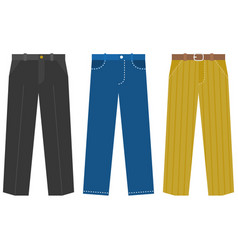 set of trousers for business man vector image