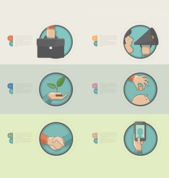 Technology Concept icons for business company vector image