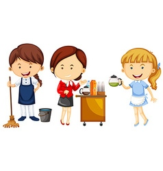 Women doing different kinds of jobs vector image vector image