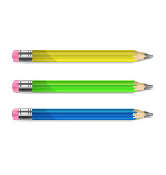 a set of pencils vector image