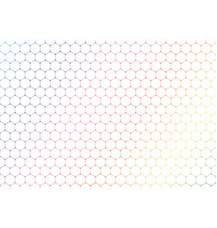 abstract colorful hexagons seamless pattern on vector image