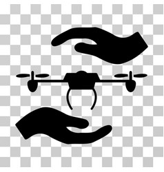 Airdrone care hands icon vector