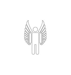 angel flat icon vector image