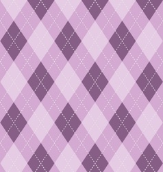 Argyle background in purples vector image