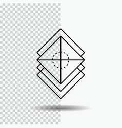 Arrange design layers stack layer line icon on vector