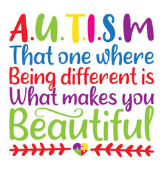 Autism that one where being different is what vector