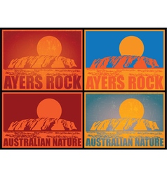 Ayers Rock Posters vector