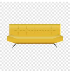bar leather sofa mockup realistic style vector image