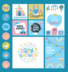 bashower or arrival big set - tags banners vector image