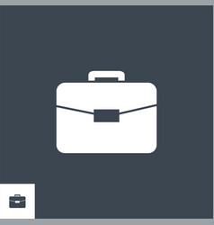 Briefcase flat related glyph icon vector