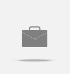 business bag flat icon with shadow vector image
