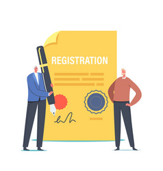 Business company registration legal procedure vector