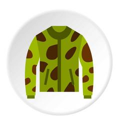 camouflage jacket icon circle vector image