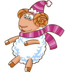 cartoon sheep character vector image