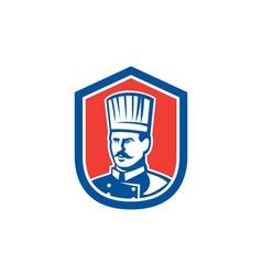 Chef Cook Baker Shield Retro vector