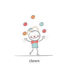 Clown juggling vector image
